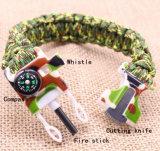 Braccialetto esterno con fuoco Stick&Whistle& Compass&Knife