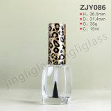 투명한 Glass 15ml Nail Polish Bottle
