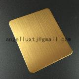 hoja de acero inoxidable del final de oro Titanium de la rayita 201 304 316
