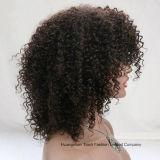 Perruque normale d'avant de lacet de couleur d'arrivée de l'Inde de perruque crépue neuve d'enroulement