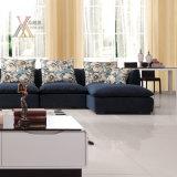 L'insieme blu del sofà del tessuto del salone ha riempito di lattice (9099A)