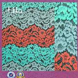 tissu de lacet de couleurs de la mode trois pour la jupe
