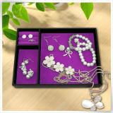 普及したPUの革包装の宝石類の結婚式の皿