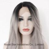 Высокий ранга фронта шнурка волос парик длиной естественный прямой синтетический