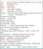 Vr All in Un con la ROM Rk3288 Quad Cord IPS Screen Android 5.1 Vr Games Player Vr Box Vr Glasses Vr Shinecon di 2g RAM 16g