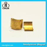Magneten van het Neodymium van de Vorm van de Boog van de Deklaag van de douane de Gouden