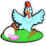 Liberare il ricordo promozionale personalizzato di turismo del gallo dei magneti del frigorifero del PVC dei regali (RC-R04)