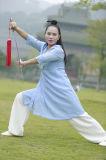 道教Taiのキーのばね及び夏のハンの中国の亜麻斜めカラーコート