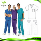 Weißer Baumwoll-Polyester-Twill-Overall-Doktor Unifrom (KW-002)