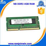 Ett первоначально обломоков RAM 4GB DDR3 памяти компьтер-книжки Ecc Non
