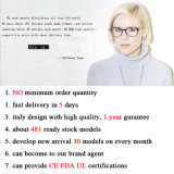 Freies Beispieloptischer Rahmen Eyewear blauer Vierecks-Glas-Rahmen-Azetat-Brille-Rahmen