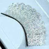 Ресницы творческих Sequins шнурка серебра состава ложные