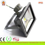 Diodo emissor de luz Flood Light de Ce/RoHS/SAA /Water Proof/20W com Motion Sensor