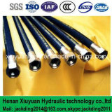 Alambre insertado, la fibra espiral hidráulica de succión y manguera de caucho de entrega con tuberías 2 + 1
