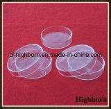 덮개를 가진 투명한 원형 실리카 석영 세균 배양용 접시