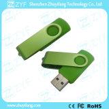 Azionamento del USB della parte girevole 16GB di verde del regalo di campagna di soggetto (ZYF1823)