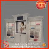 Cabina de visualización de madera de pared para el almacén de la ropa