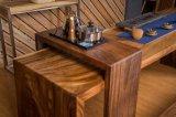 適用範囲が広い茶室のクルミのベンチ(CG-018)が付いている木製の茶表