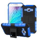 Caja a prueba de choques híbrida barata del teléfono para Samsung J1
