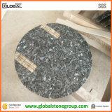 Table ronde bleue Polished de granit pour les meubles en pierre d'hôtel