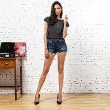 Demin Кальсон повелительницы, коротких джинсыов с Tassels
