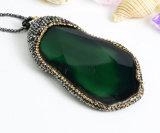 De Halsband van de Juwelen van de Tegenhanger van de Plak van de Parel van het Agaat van de Halfedelsteen van de Steen van de manier