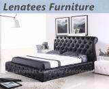 Königliche Schlafzimmer-Möbel des ledernen Bett-A512