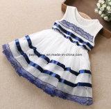 Vestido de flor de renda de meninas de alta qualidade Vestido de flores com roupas de criança