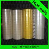黄色がかった48mmの印刷の粘着テープ、パッキングテープ