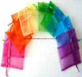 Poche colorée faite sur commande de cadeau de cordon d'organza