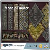 Polished водоструйная мраморный плитка граници мозаики для настила