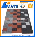 Mattonelle di tetto rivestite del metallo della pietra variopinta popolare internazionale con l'alta qualità
