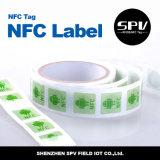 Hf de papel adhesivo 13.56MHz Ntag216 ISO14443A de la etiqueta engomada de Nfc