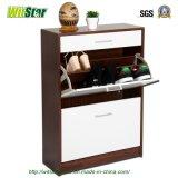 Gabinete de madeira da sapata com gaveta (WS16-0207)