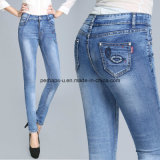 Pantalons courts en dentelle slim denim