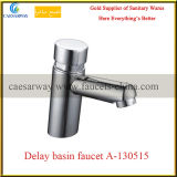 Laiton Sanitaire Ware Time Delay Cold Water Basin Faucet
