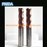 Alta qualidade de 4 cortadores de trituração do carboneto do revestimento de Tisin do ouro das flautas