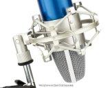 T-5 de plata Radio Broadcasting Studio / Grabación de voz / sonido / En el estudio (Negro) Diámetro de 48-51mm Micrófonos Shoct Monte