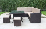 Footrestの庭Rattan Wicker Furniture Lounge Sofa Set