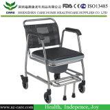 Silla de ruedas de acero inoxidable con la cómoda