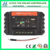 10A / 20A PWM 12 / 24V regolatore di carica solare auto con porta USB (QWP-SC1024U)
