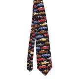 Cravate estampée par fantaisie faite sur commande de polyester de soie de 100% (NT-002)