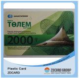 Cartão plástico transparente do OEM