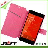 Caso vendedor caliente del tirón del cuero de la PU del diseño de la caja del teléfono móvil para Xiaomi