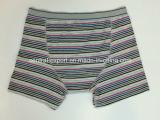 Yarn-Dyed 줄무늬 및 Opeing를 가진 신식 남자의 복서 간결 내복