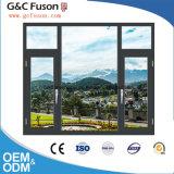 guichet en verre Tempered de châssis de fenêtre en aluminium de 1.4mm