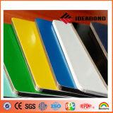 El panel compuesto de aluminio azul amarillo verde revestido de PVDF