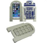 El planeta guerrea la caja blanca del teléfono del silicón de los soldados R2d2 para Samsung S4 S5 S6 J5 J7 (XSY-025, XSY-028)