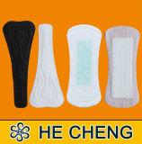 Fábrica do guardanapo das almofadas sanitárias de Quanzhou Hecheng, almofadas por atacado de Minii das mulheres, forro descartável de Panty