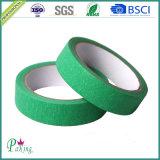 Soem-kundenspezifisches einseitiges grüne Farben-selbsthaftendes Kreppband für Auto-Farbanstrich